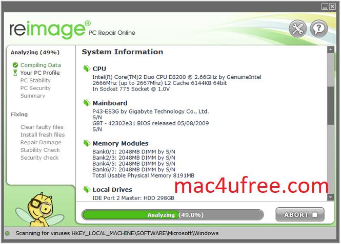 Reimage PC Repair  Crack 2021 Serial Key Free Download 2021